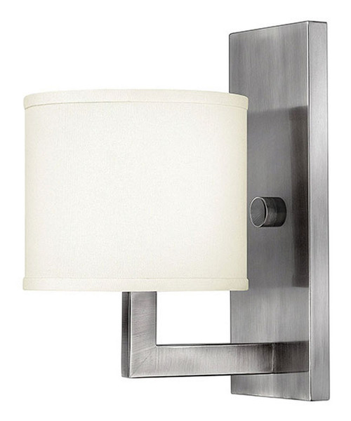 Hinkley Sconce Hampton Collection Single Light Sconce in Antique Nickel, 3210AN