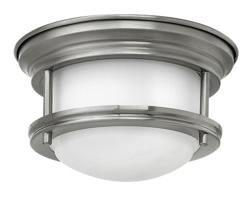 Hinkley Foyer Hadley Collection Mini Flush Mount in Antique Nickel, 3308AN