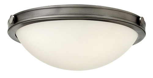 Hinkley Foyer Maxwell Collection Small Flush Mount in Antique Nickel, 3782AN