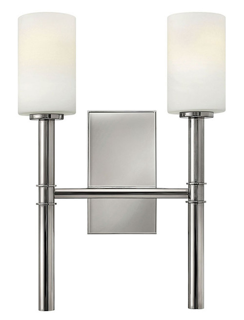 Hinkley Sconce Margeaux Collection Two Light Sconce in Polished Nickel, 3582PN