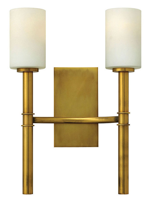 Hinkley Sconce Margeaux Collection Two Light Sconce in Vintage Brass, 3582VS