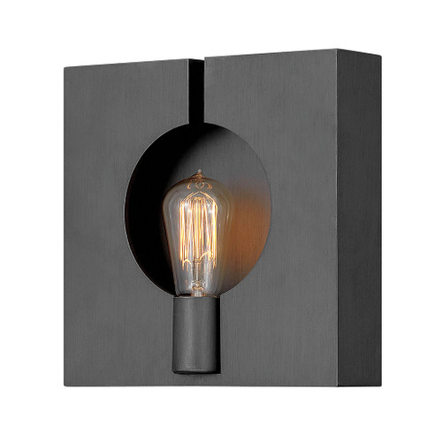 Hinkley Sconce Ludlow Collection Single Light Sconce in Brushed Graphite, 41310BGR