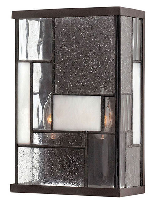 Hinkley Sconce Mondrian Collection Two Light Sconce in Buckeye Bronze, 4570KZ