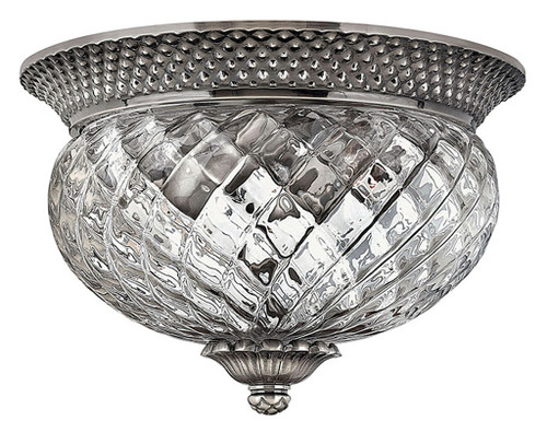 Hinkley Bath Plantation Collection Small Flush Mount in Polished Antique Nickel, 4102PL