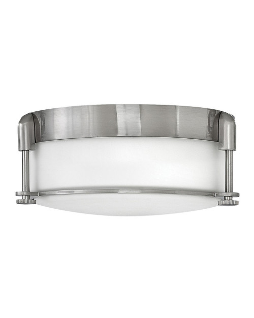 Hinkley Foyer Colbin Collection Medium Flush Mount in Brushed Nickel, 3231BN