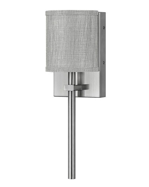 Hinkley Sconce Avenue Collection Single Light Sconce in Brushed Nickel, 41009BN