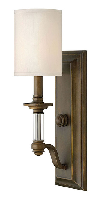 Hinkley Sconce Sussex Collection Single Light Sconce in English Bronze, 4790EZ