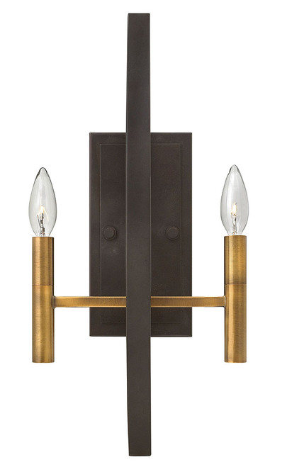 Hinkley Sconce Euclid Collection Two Light Sconce in Spanish Bronze, 3460SB