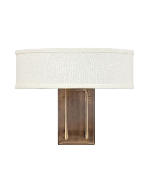 Hinkley Sconce Hampton Collection Two Light Sconce in Brushed Bronze, 3202BR