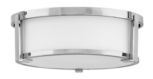 Hinkley Foyer Lowell Collection Medium Flush Mount in Chrome, 3241CM