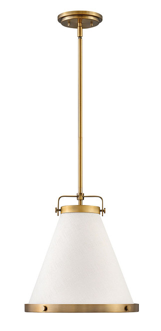 Hinkley Pendant Lark Collection Small Pendant in Lacquered Brass, 4997LCB