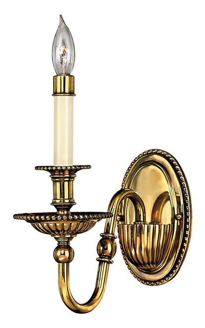 Hinkley Sconce Cambridge Collection Single Light Sconce in Burnished Brass, 4410BB