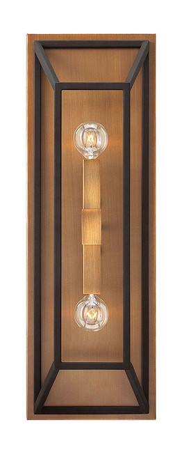 Hinkley Sconce Fulton Collection Two Light Sconce in Bronze, 3330BZ