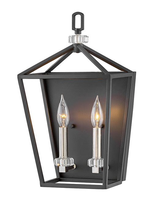 Hinkley Sconce Stinson Collection Two Light Sconce in Black, 3532BK