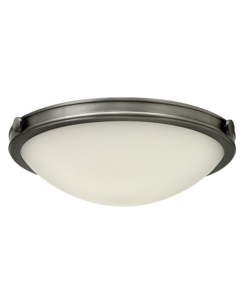 Hinkley Foyer Maxwell Collection Medium Flush Mount in Antique Nickel, 3783AN