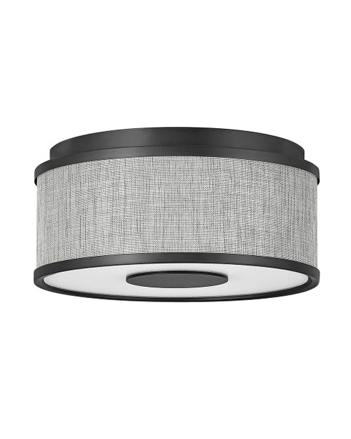 Hinkley Foyer Halo Collection Small Flush Mount in Black, 42005BK