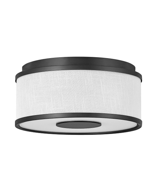 Hinkley Foyer Halo Collection Small Flush Mount in Black, 42006BK