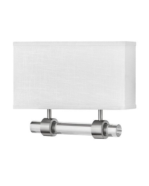 Hinkley Sconce Luster Collection Two Light Sconce in Brushed Nickel, 41604BN