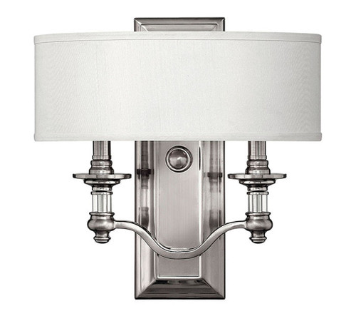 Hinkley Sconce Sussex Collection Two Light Sconce in Brushed Nickel, 4900BN