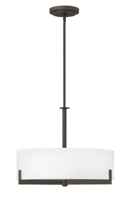 Hinkley Chandelier Hayes Collection Medium Drum in Oil Rubbed Bronze, 4234OZ