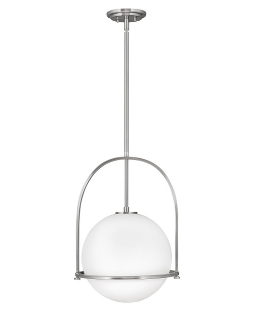 Hinkley Pendant Somerset Collection Large Pendant in Brushed Nickel, 3405BN