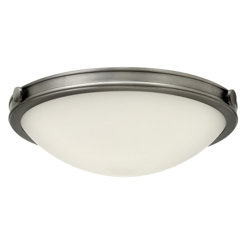 Hinkley Foyer Maxwell Collection Medium Flush Mount in Antique Nickel, 3783AN-LED