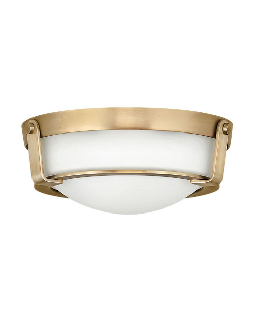 Hinkley Foyer Hathaway Collection Small Flush Mount in Heritage Brass, 3223HB-LED