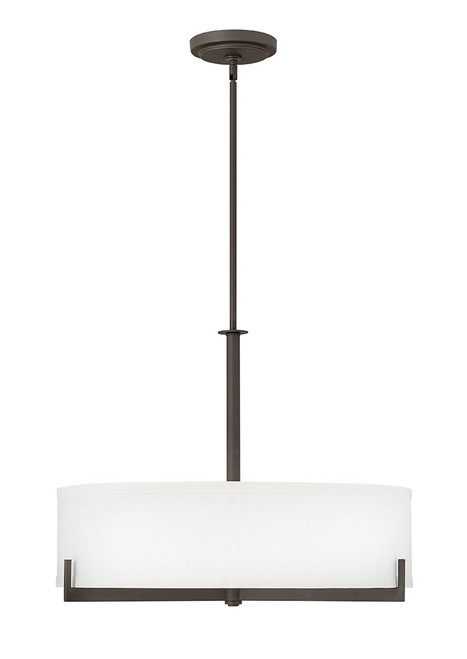 Hinkley Chandelier Hayes Collection Large Drum in Oil Rubbed Bronze, 4236OZ