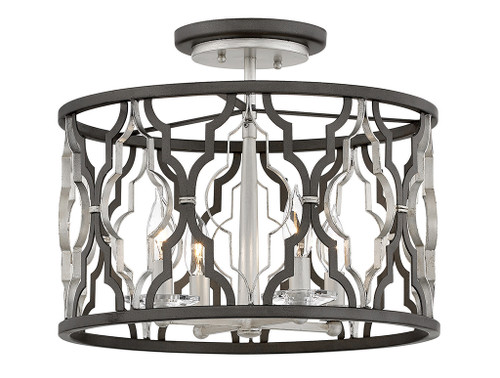 Hinkley Foyer Portico Collection Medium Semi-Flush Mount in Glacial, 3063GG