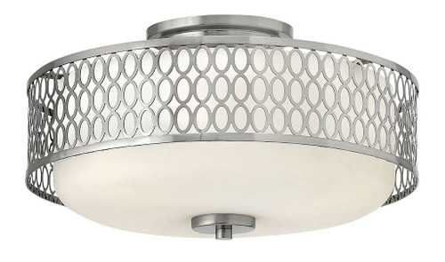 Hinkley Foyer Jules Collection Medium Semi-Flush Mount in Brushed Nickel, 53241BN-LED
