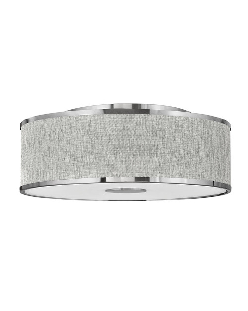 Hinkley Foyer Halo Collection Large Flush Mount in Brushed Nickel, 42009BN