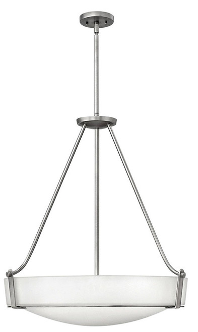 Hinkley Foyer Hathaway Collection Large Pendant in Antique Nickel, 3224AN