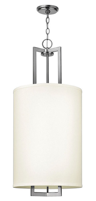 Hinkley Foyer Hampton Collection Large Drum Pendant in Antique Nickel, 3205AN