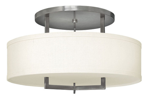 Hinkley Foyer Hampton Collection Large Semi-Flush Mount in Antique Nickel, 3211AN