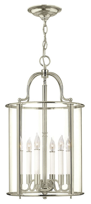 Hinkley Foyer Gentry Collection Large Single Tier in Polished Nickel, 3478PN