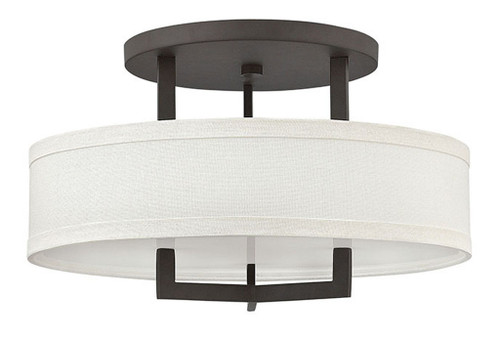 Hinkley Foyer Hampton Collection Medium Semi-Flush Mount in Buckeye Bronze, 3201KZ-LED