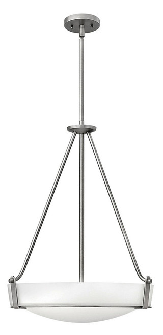 Hinkley Foyer Hathaway Collection Medium Pendant in Antique Nickel, 3222AN-LED