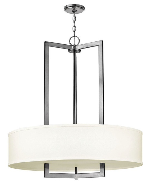 Hinkley Foyer Hampton Collection Large Drum in Antique Nickel, 3206AN