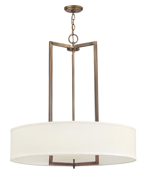 Hinkley Foyer Hampton Collection Large Drum in Brushed Bronze, 3206BR