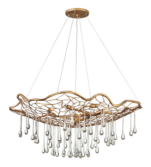Hinkley Chandelier Laguna Collection Large Single Tier in Burnished Gold, 45306BNG