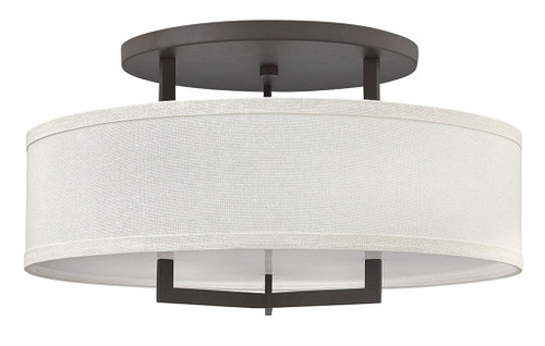 Hinkley Foyer Hampton Collection Large Semi-Flush Mount in Buckeye Bronze, 3211KZ-LED