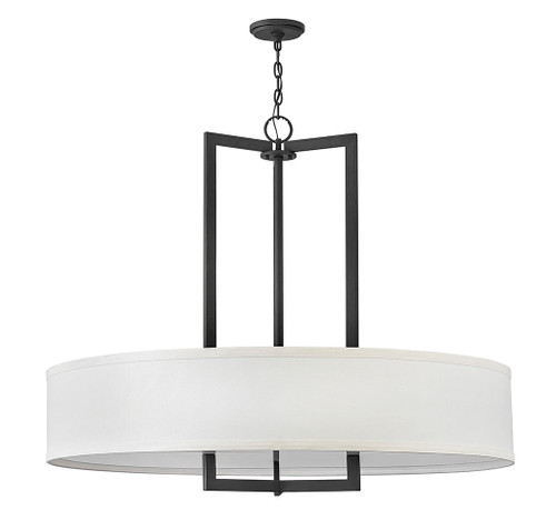Hinkley Chandelier Hampton Collection Large Drum Pendant in Buckeye Bronze, 3219KZ