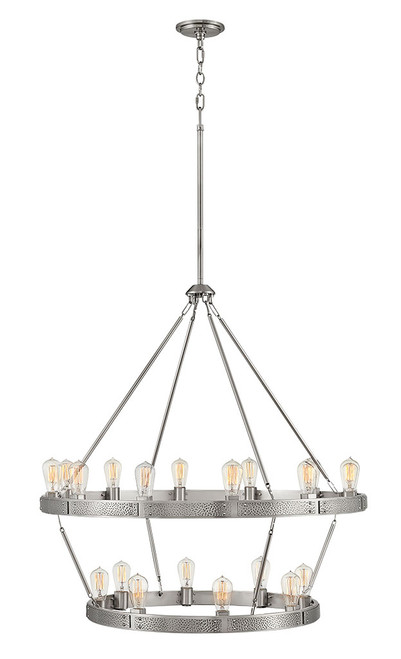 Hinkley Chandelier Everett Collection Large Multi Tier in Brushed Nickel, 4399BN