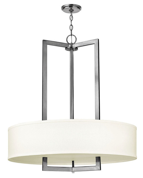 Hinkley Foyer Hampton Collection Large Drum in Antique Nickel, 3206AN-LED