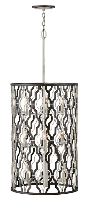 Hinkley Chandelier Portico Collection Extra-Large Open Frame Drum in Glacial, 3069GG