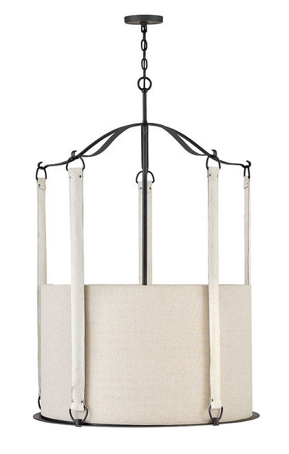 Hinkley Chandelier Telluride Collection Large Drum in Brushed Graphite, 3766BGR