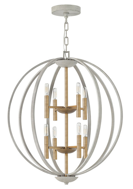Hinkley Foyer Euclid Collection Large Two Tier Orb in Cement Gray, 3468CG