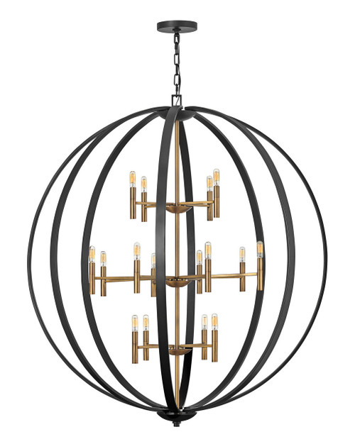 Hinkley Chandelier Euclid Collection Extra Large Orb in Spanish Bronze, 3465SB