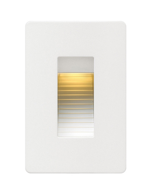 Hinkley Landscape Luna Collection Luna Step Light 120v Vertical 2700K in Satin White, 58504SW