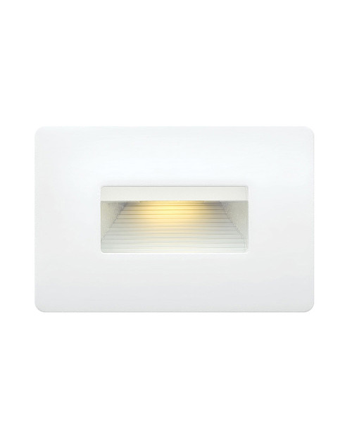 Hinkley Landscape Luna Collection Luna Step Light 120v Horizontal 2700K in Satin White, 58508SW